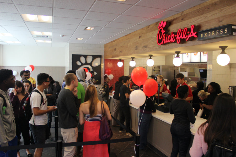 Chick-fil-A restaurants are making the news for having greater sales than one of their biggest competitors, KFC. Photo credit: FAU