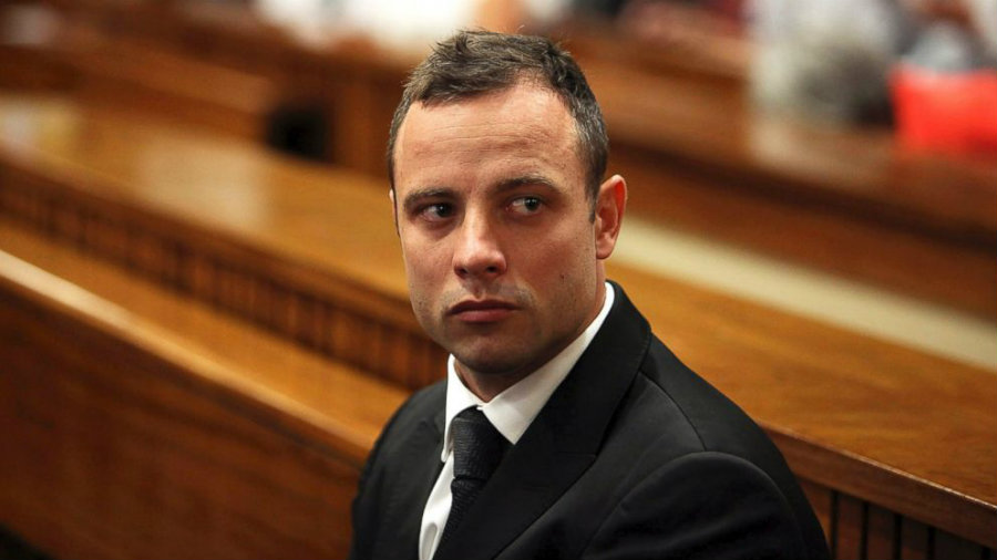 Former Olympic athlete, Oscar Pistorius, removed his prosthetic legs to attend a courtroom in Pretoria, South Africa on Wednesday. Photo credit: Alon Skuy / Getty Images / ABC News