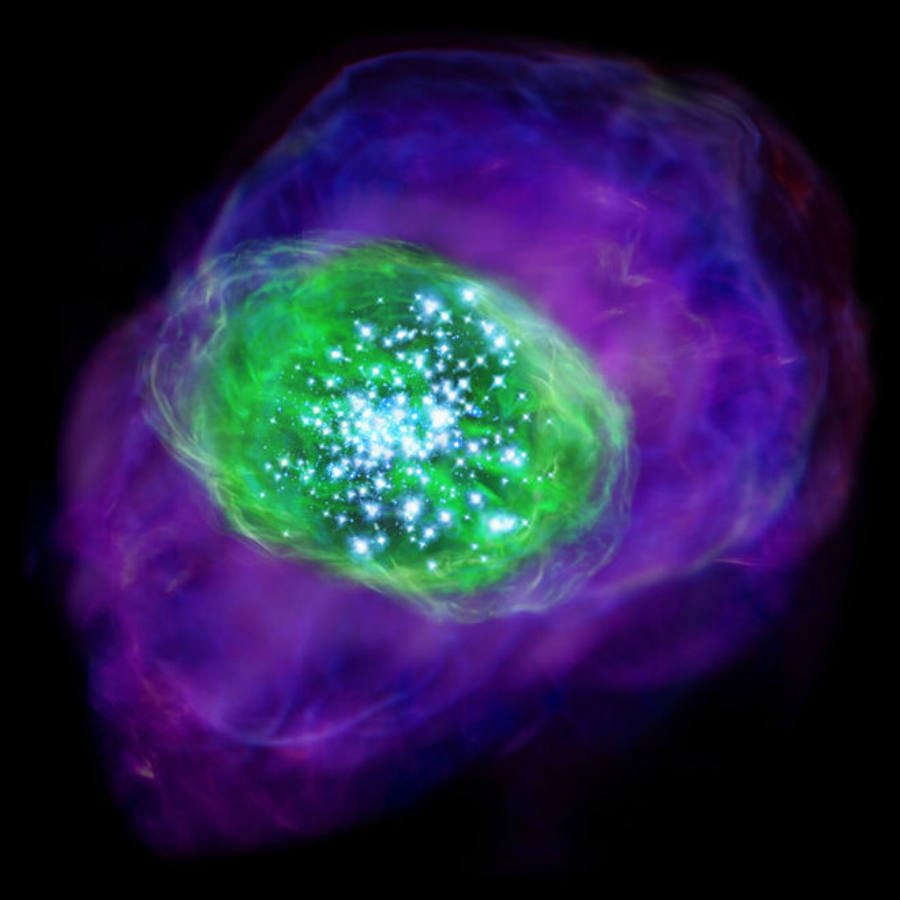 Right after the Big Bang occurred the universe only had the lightest of the elements (hydrogen, helium, and lithium) and later on heavier elements, which are vitals for creating life, would emerge. Image Credit: Space