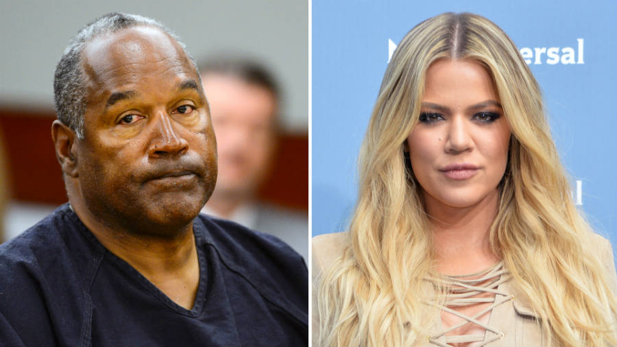 O.J. Simpson (left) has agreed to take a paternity test to end the rumors claiming he is actually Khloe Kardashian's father. Image Credit: Sporting News