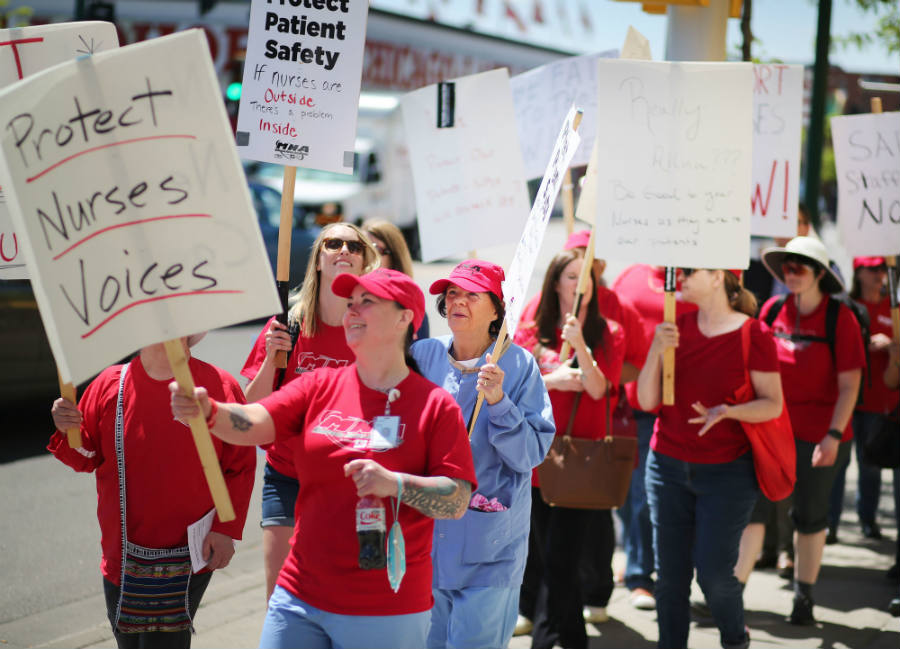 The demonstrations are being held at five hospitals operated by Allina Health at Phillips Eye Institute in Minneapolis, Mercy in Coon Rapids, Unity in Fridley, United in St. Paul, and Abbott Northwestern in Minneapolis. Image Credit: Star Tribune