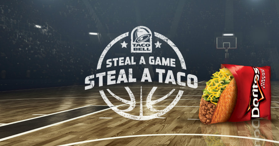 """NBA Finals ended on Sunday, 19th June, but Taco Bell and its promotion """"Steal a game, steal a taco"""" was available Tuesday in every Taco Bell in the United States. Photo credit: Taco Bell"""