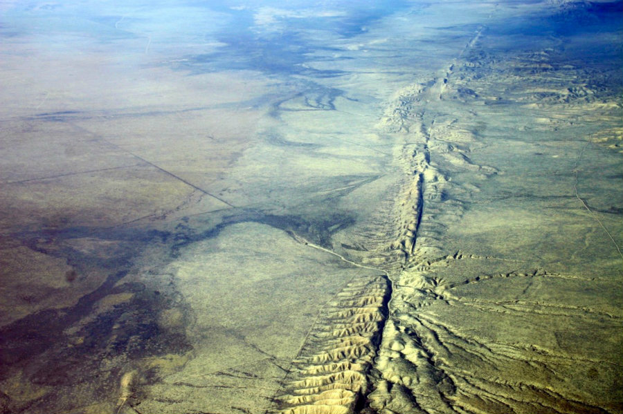 Researchers determined from GPS analysis that there are new areas of motion near the San Andreas Fault System.  Photo credit: Wikipedia / Forbes