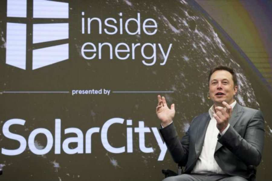 Elon Musk at SolarCity's Inside Energy Summit in Manhattan, New York October 2, 2015. Image Credit: Reuters