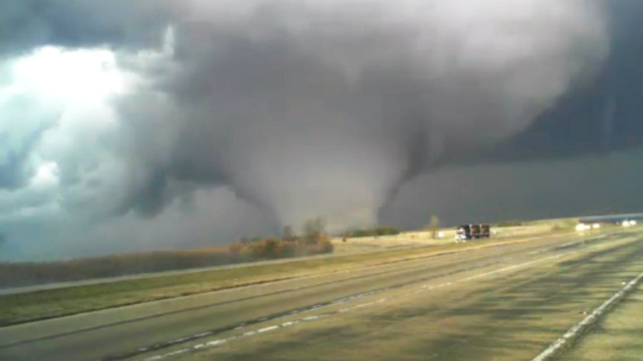 Severe storms moved into area to what is called the 'tornado touchdowns,' as reported by local weather channels. Image Credit: Weather