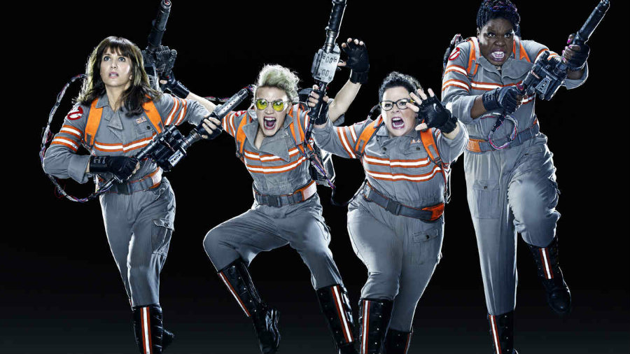 The Ghostbusters all-female cast starring Melissa McCarthy, Kristen Wiig, Leslie Jones and Kate McKinnon has shocked and angered numerous fans. Photo credit: Empire Online