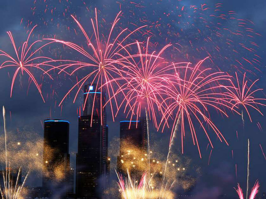 The celebration held on Monday in Detroit was not only an incredible spectacle for people in the streets as the sky iluminated with fireworks, but it was a reminder of the city's progress. Image Credit: Windsor Star