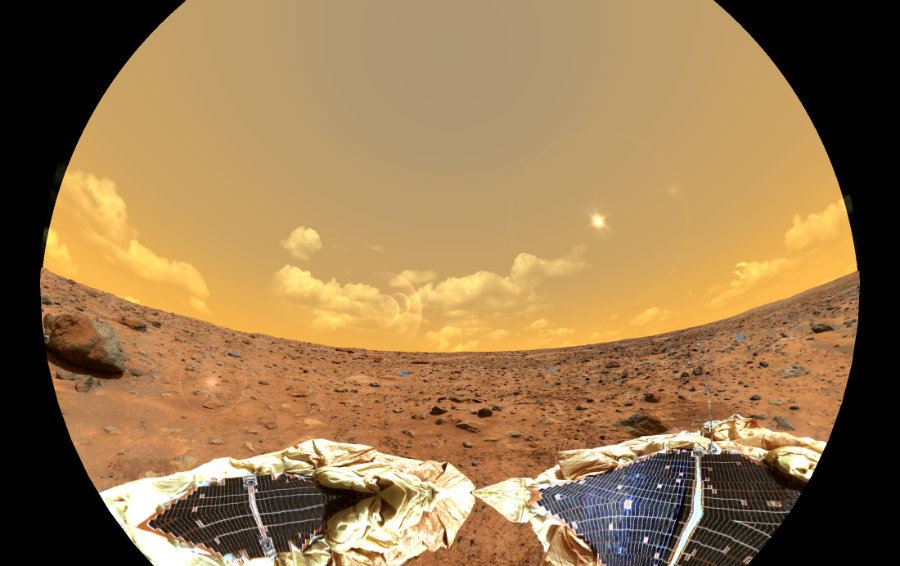 Mars, once displaying signs of potential habitability, has grown to suggest that its atmosphere has become drier with time. Photo credit: NASA