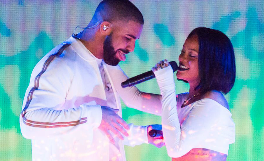 The continuos back and forth between musicians Drake and Rihanna has fans wondering if they're together as friends, or more than friends. Image Credit: MTV
