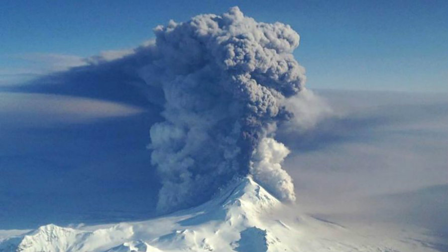 Pavlof Volcano in Alaska is showing signs it could erupt sooner than expected. Preventive measures have already began to take action. Image Credit: Fox News