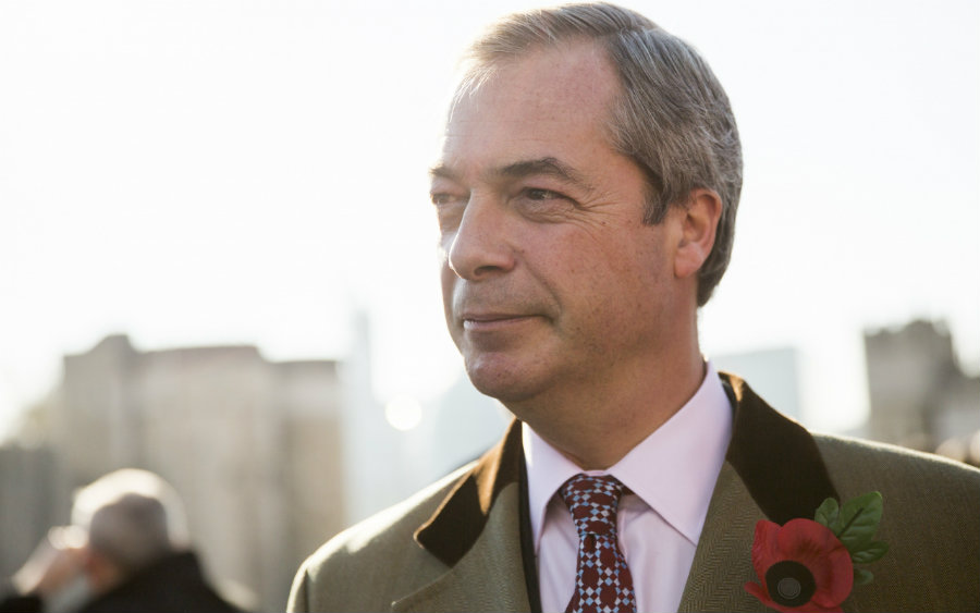 Nigel Farage followed David Cameron's steps and quit the UK Independence Party to avoid the political storm coming to the European country. Photo credit: NewStatesman