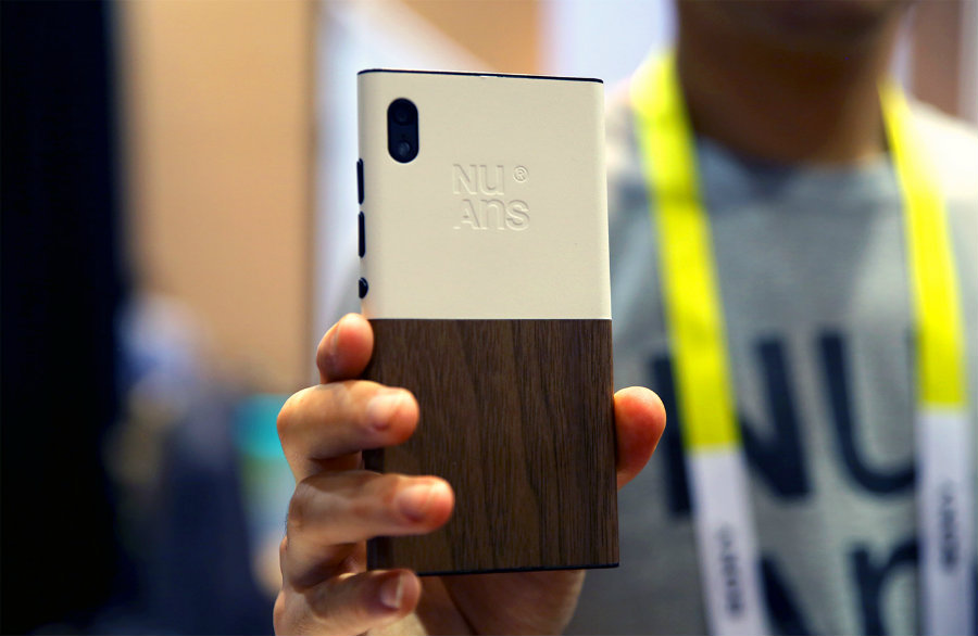 NuAns is trying out luck by asking for support for its new NEO Windows 10 smartphone at Kickstarter. Photo credit: Engadget