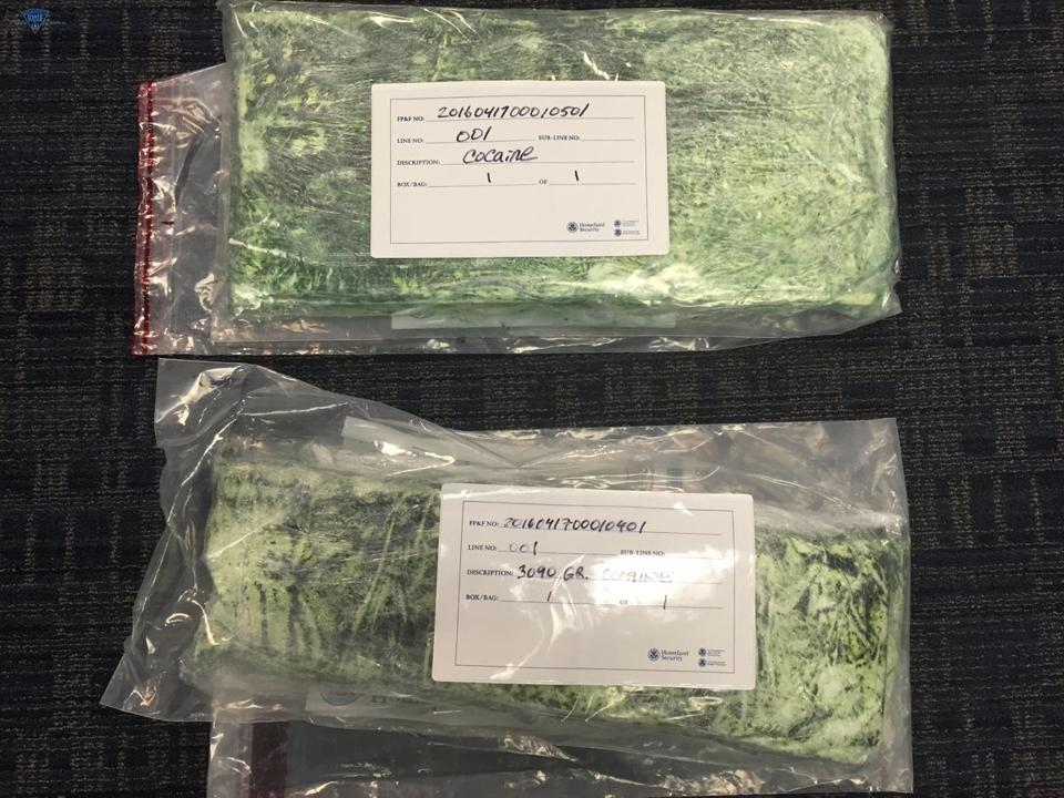 Two passengers were detained and inspected as officials suspected something was wrong. Notably, both men were trying to smuggle cocaine through the Logan Boston International Airport. Image Credit: Boston Globe
