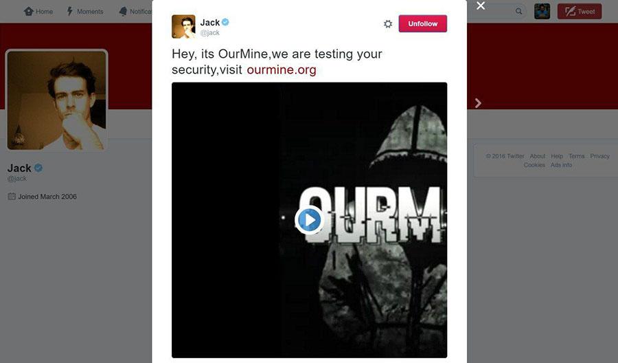 After Zuckerberg, Pichai, Hackers Take Down Jack Dorsey's Twitter Account