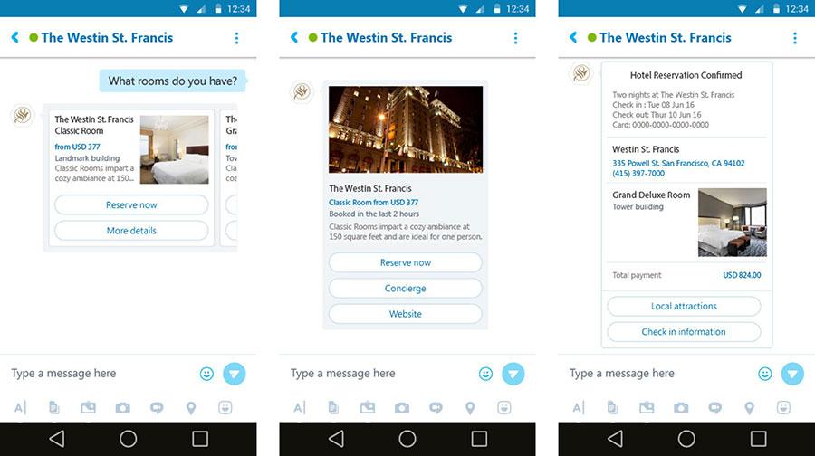 Skype chatbots