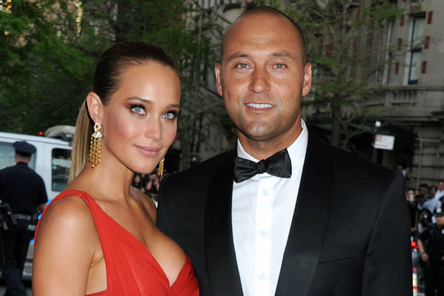 Derek Jeter, a former New York Yankees player, married Hannah Davis, her longtime girlfriend, and model of Sports Illustrated. Photo credit: Page Six