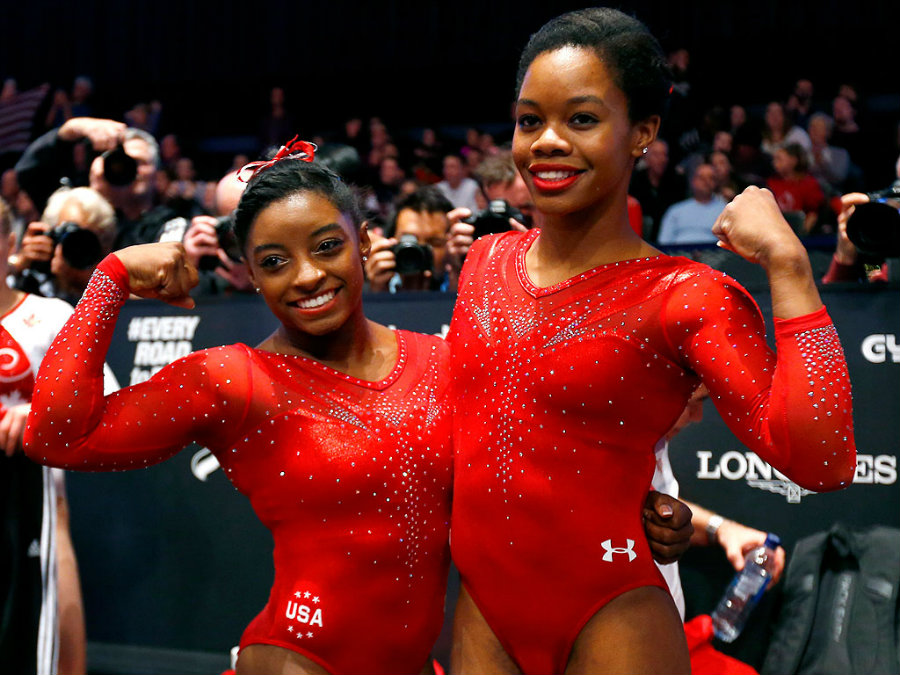 For Simone Biles and Gabby Douglas, the Gymnastics World Championships were not only a success, but also the perfect warm up for Rio 2016. Image Credit: People