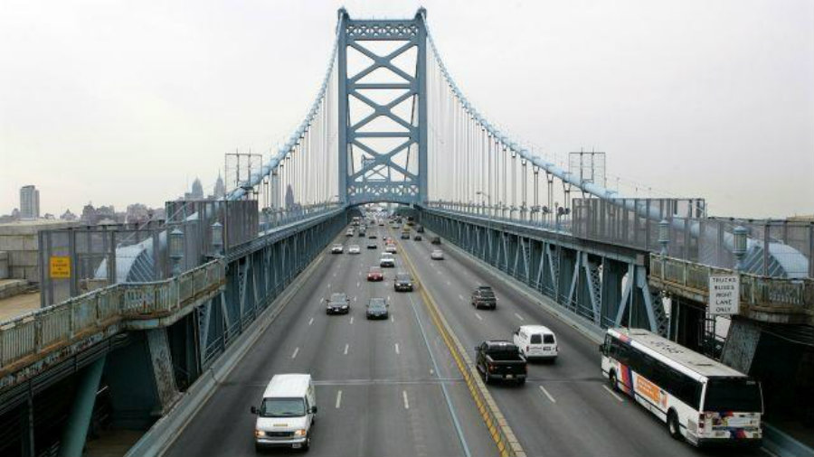The New Jersey side of the George Washington Bridge, which connects Fort Lee, NJ, and New York City, is seen on image above. Image Credit: WFMZ