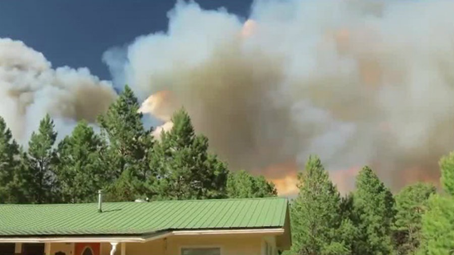 The area was also evacuated by the Otero County Sheriff's Department, but some residents decided to stay at home. Image Credit: KOAT