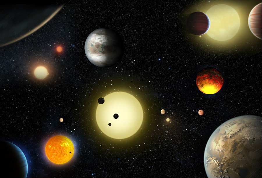 NASA's latest discovery represents the largest haul of 'new planet candidates' outside our solar system ever to be recorded in one data-recolection. Image Credit: NASA