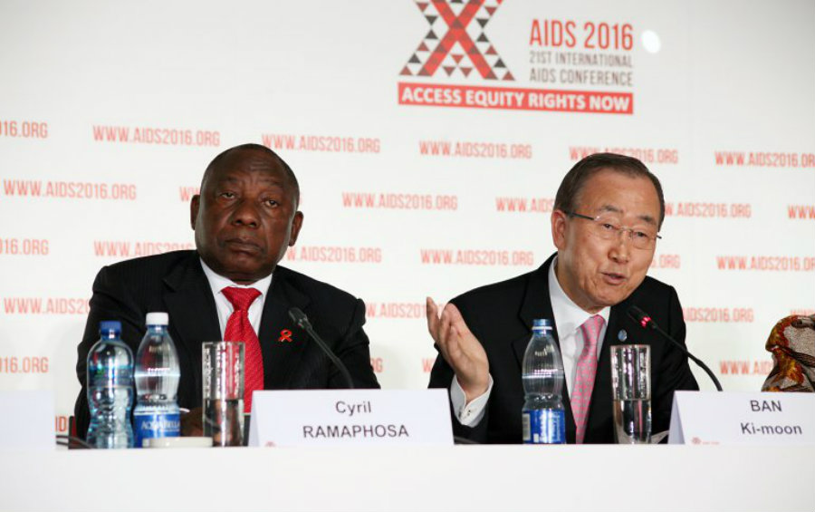 As seen above, Ki-Moon and Cephalosa address a news conference for the 21st International AIDS Conference. The vaccine fulfill all 4 criteria, and it should launch, Gail-Bekker said. Image Credit: Fox 43