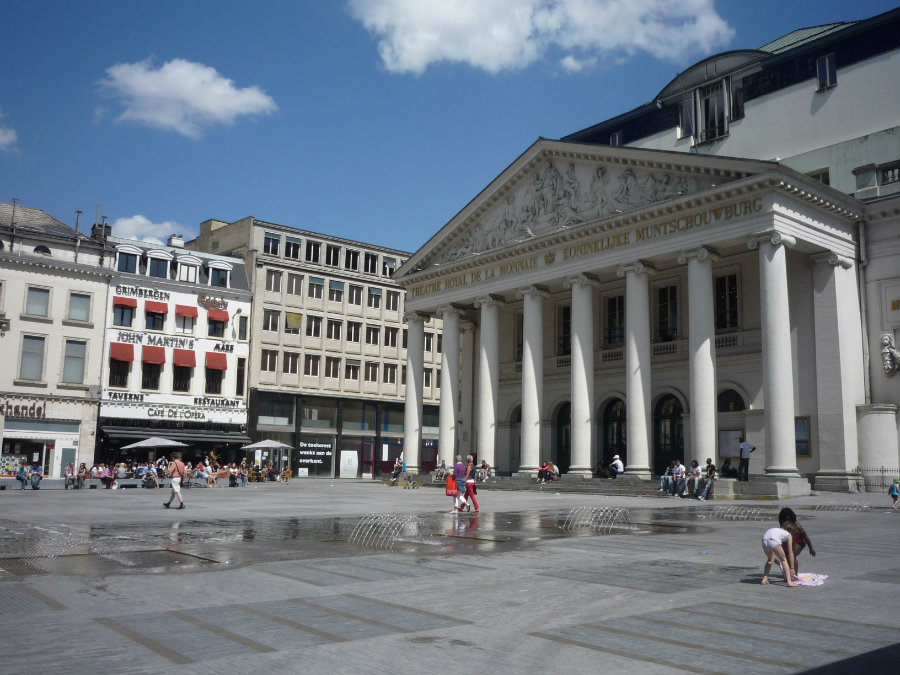 Roads around the Place de la Monnaie in Brussels were blocked, and businesses were evacuated. Image Credit: Crazy Planeat