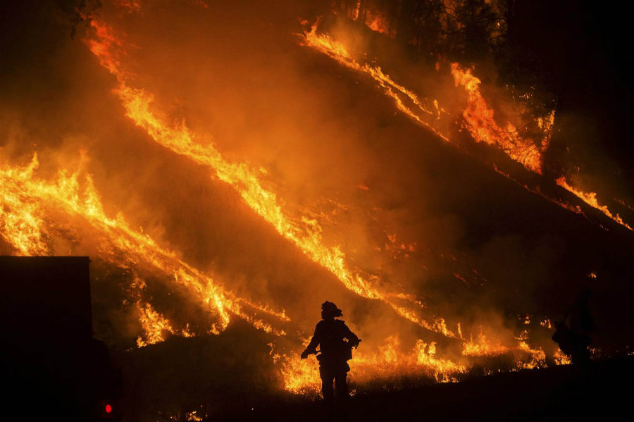 The blaze was so intense that 100 firefighters were needed to contain the fires. The fire spread more quickly thanks to winds exceeding 30 mph and ended up charring 30 acres of grass and sagebrush. Image Credit: NBC News