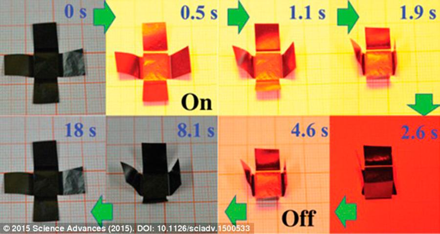 Self-folding-origami
