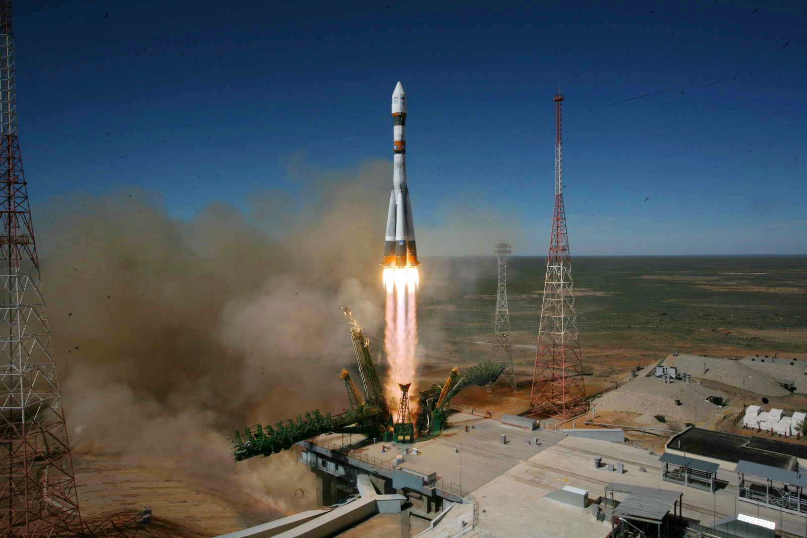 A photo of the Soyuz 2.1B launch. Photo: Russian Space Web.