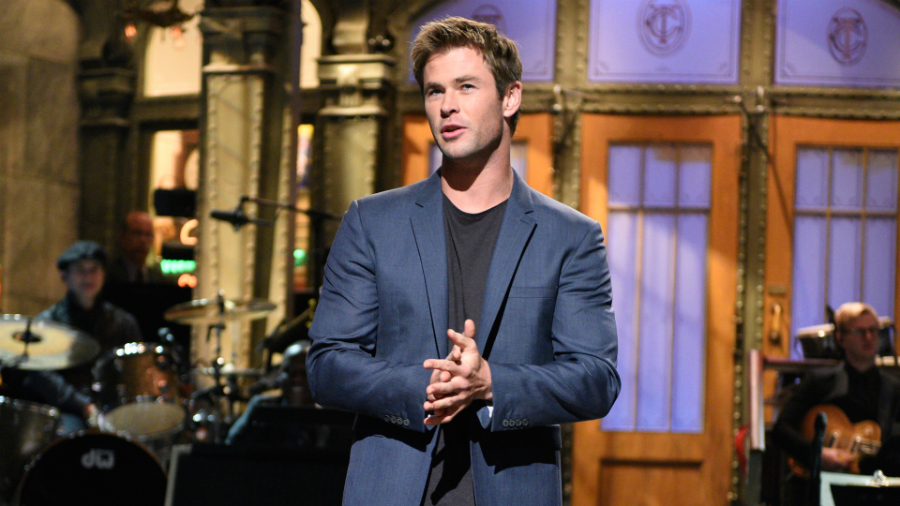 Chris Hemsworth in his previous appearance on Saturday Night Live. Photo: SNL/NBC