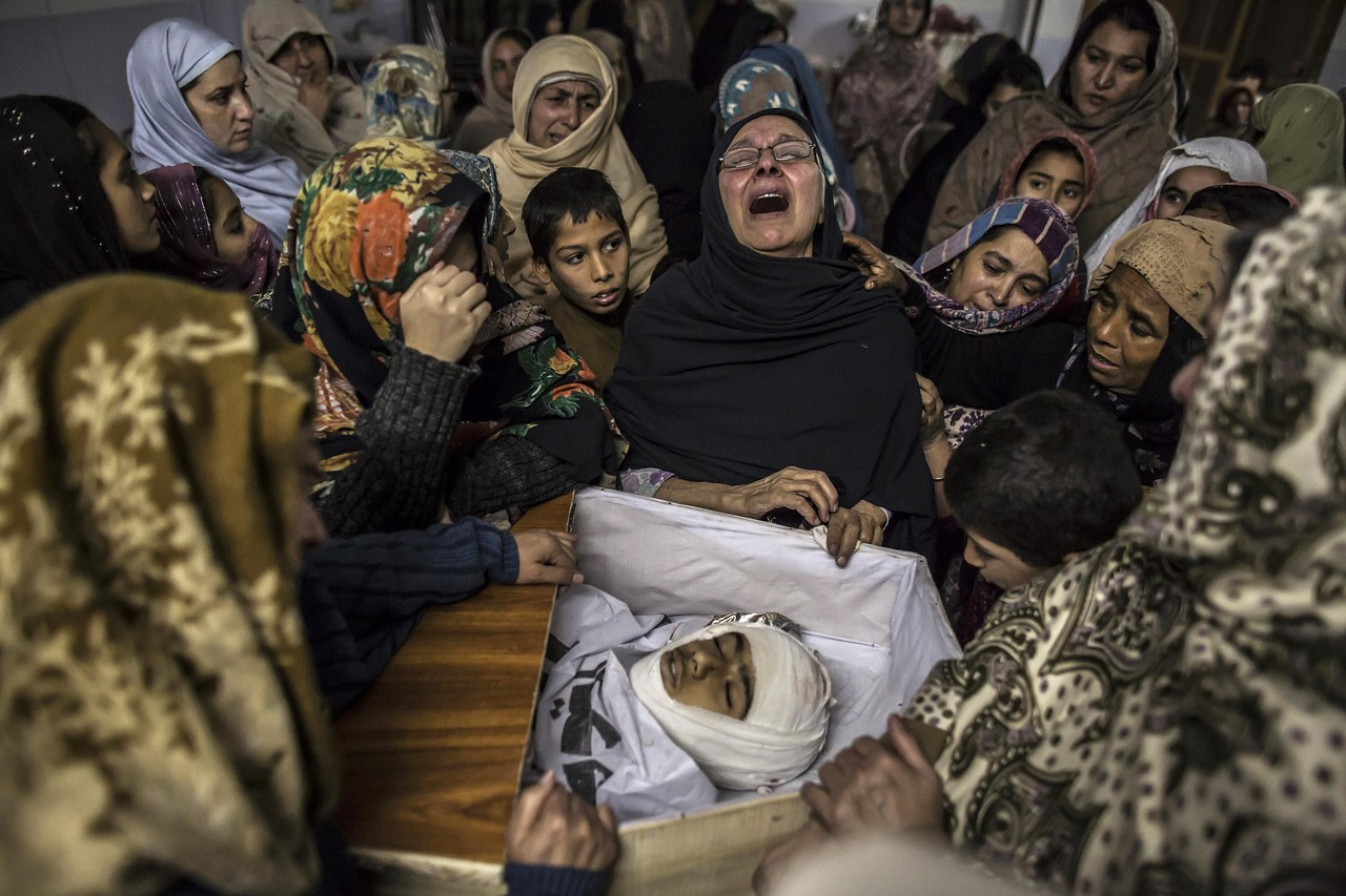A Pakistani soldier took up position close to the school. MOHAMMAD SAJJAD/ASSOCIATED PRESS Women mourn the death of Mohammed Ali Khan, a 15-year-old student killed during the attack by Taliban gunmen on the Army Public School, at his house in Peshawar, Pakistan. Credit: Wall Street Journal/REUTERS