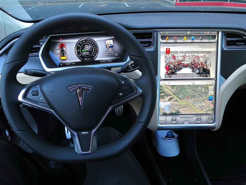 The interior of the Tesla Model S. Photo: Steve Jurvetson/Flickr/Wikipedia