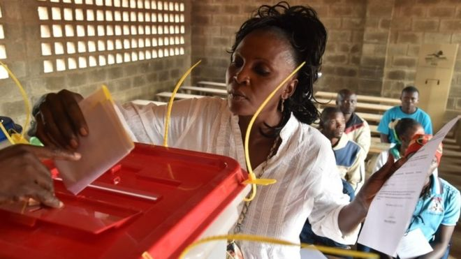 Rebels dropped their threat to disrupt voting in areas they control. Credit: BBC News.