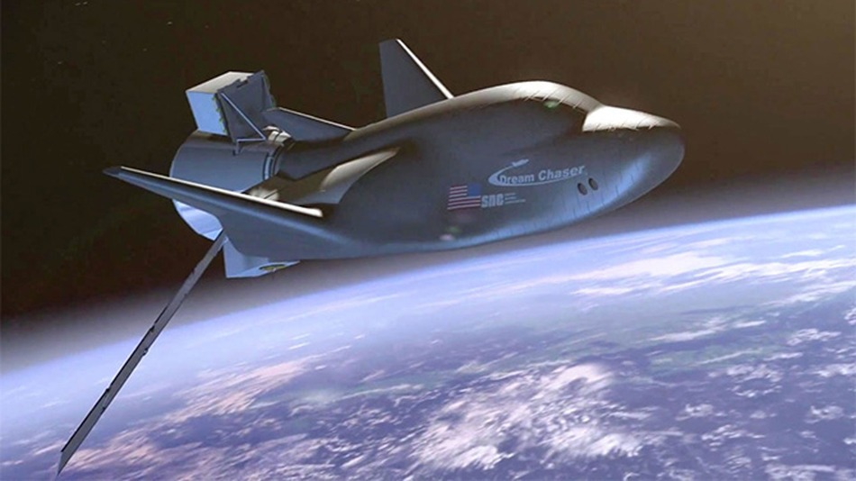 An artists's representation of the Dream Chaser going into orbit. Photo: Mashable/Sierra Nevada