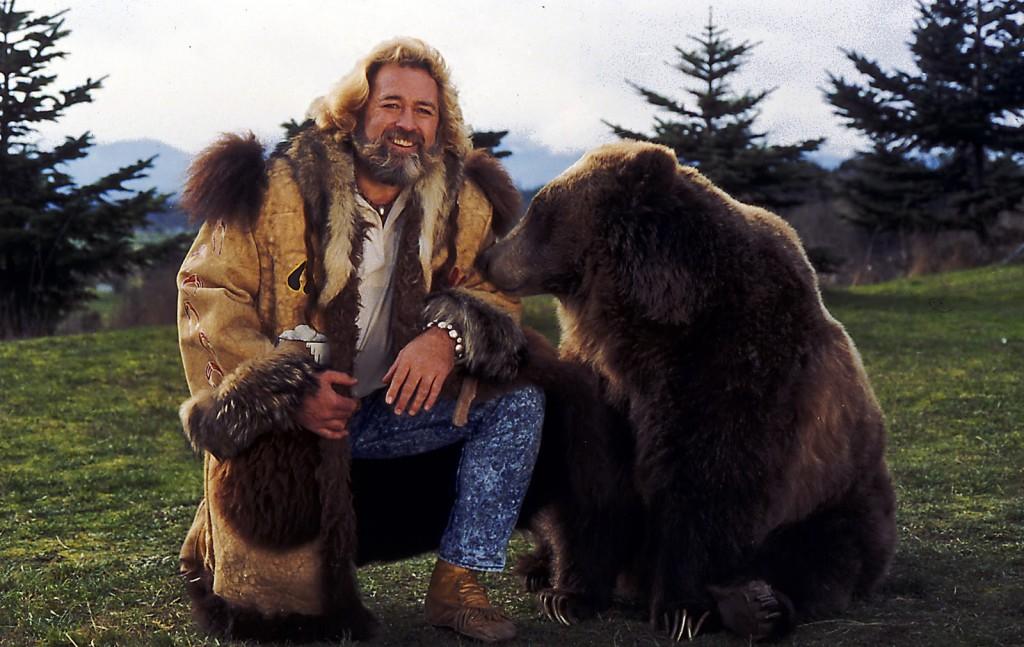 Dan Haggerty posing with a bear. Photo: NBC