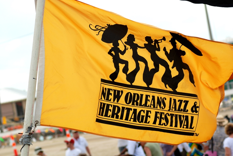The flag of the world-famous New Orleans Jazz Heritage Festival. Photo: Jazz Fest Tours