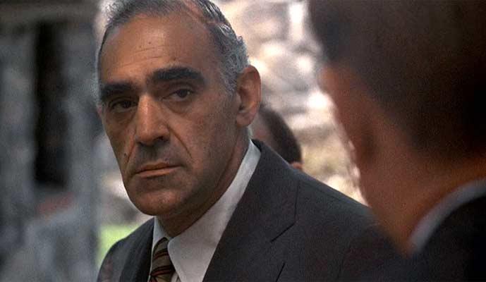 Abe Vigoda portraying Salvatore Tessio. Photo: Wikipedia/The Godfather movie Screenshot