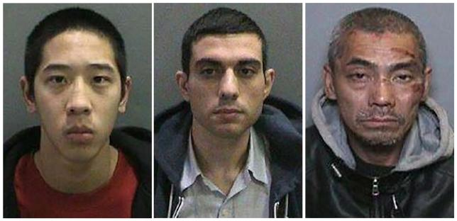 Inmates Jonathan Tieu, 20, Hossein Nayeri, 37, and Bac Duong, 43, (L to R) are seen in an undated combination photo released by the Orange County, California, Sheriff's Department. Credit: REUTERS/Orange County Sheriff's Department/Handout via Reuters