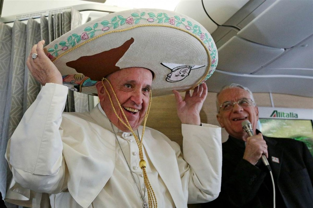 Credit: NBC News/Pope Francis Sombrero Alessandro Di Meo / Pool via AP