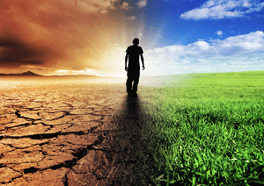 95% of climate scientists believe that climate change is caused by humans. Photo: Evogreen.co.uk