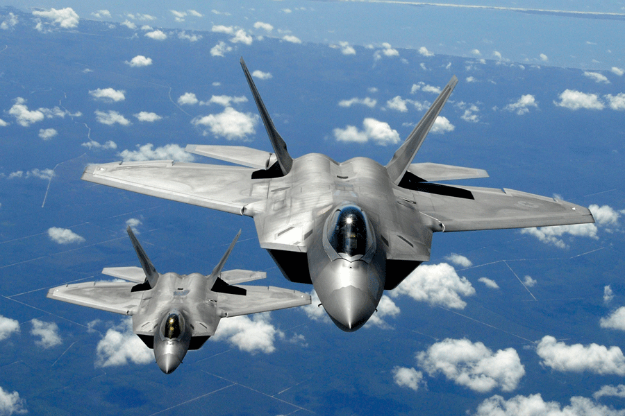 The F-22 raptor is described as the best air dominance fighter in the world. Photo credit: Taringa