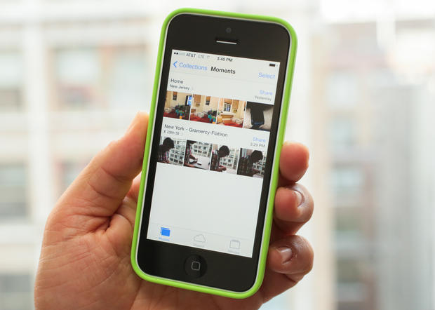 In the photo, an iPhone 5C. Photo: CNET