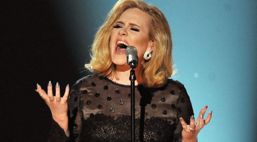 British singer Adele took home four awards at the Brit Awards ceremony on Wednesday in the O2 Arena in London. Photo credit: BBC