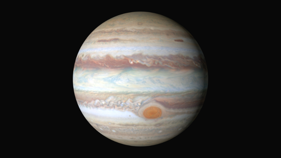 Images from Jupiter registered by the Hubble Space Telescope. Photo: NASA
