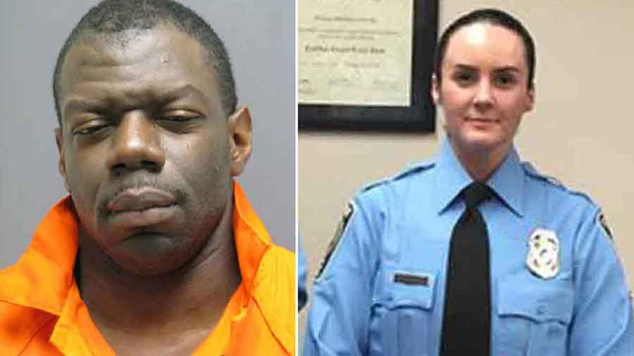 Ashley Guindon (right) was shot dead by Ronald Williams Hamilton (left), after.... Photo credit: Prince William County Police via AP / ABC 7