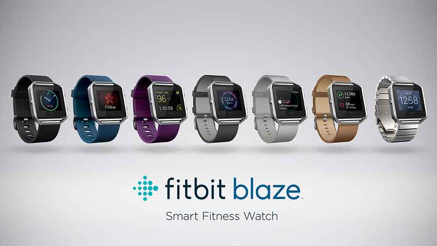 Fitbit Inc. released Tuesday a $199 wearable fitness tracker named Fitbit Blaze. Photo credit: Appleros