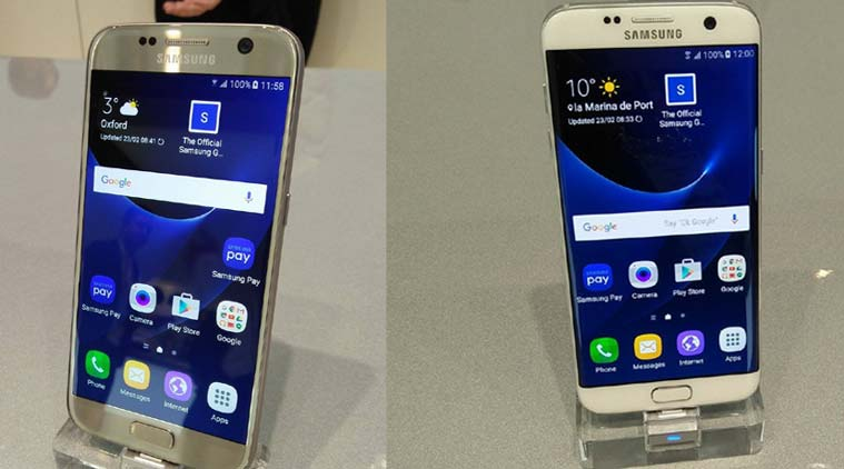 The Samsung Galaxy S7 and the S7 Edge. Photo: Indian Express