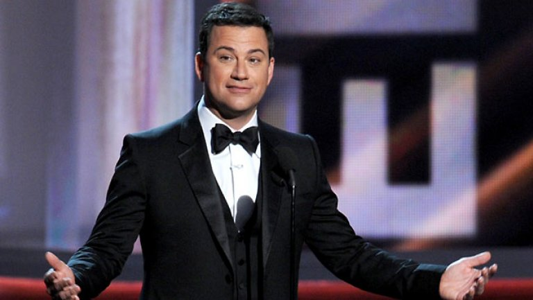 Jimmy Kimmel at the 2015 Emmy's. Photo: GETTY/The Hollywood Reporter
