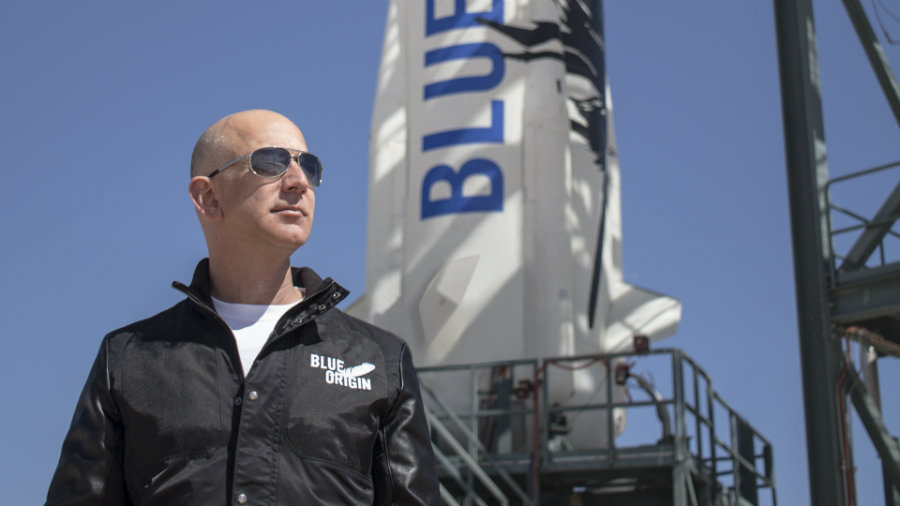 Jeff Bezos has invited reporters to the headquarters of his private space company Blue Origin, where reusable rockets are being constructed. Photo credit: Blue Origin / Wired