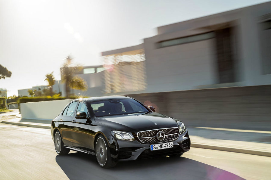 The new 2017 Mercedes-AMG E43 is powered by a 3.0-liter twin turbocharged V6 engine. Photo credit: CNET
